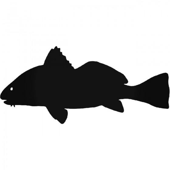 Black Drum Fish Sticker