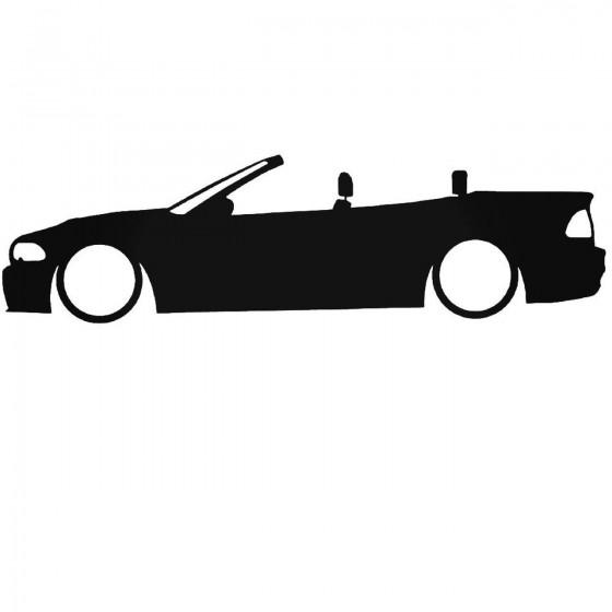 Bmw E46 Cabrio Low Decal...