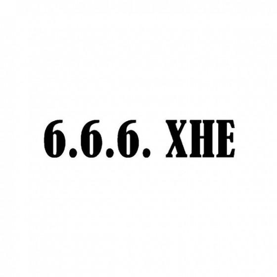666 Xhe Band Logo Vinyl Decal