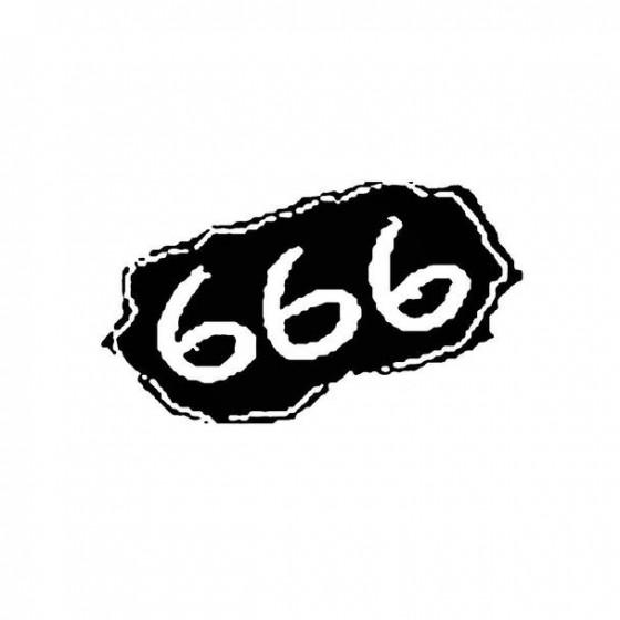666 3 Band Logo Vinyl Decal