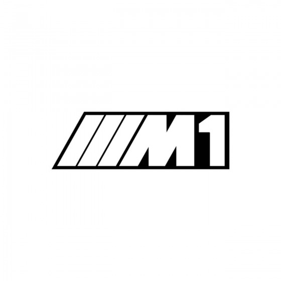Bmw M1 Contour Vinyl Decal...