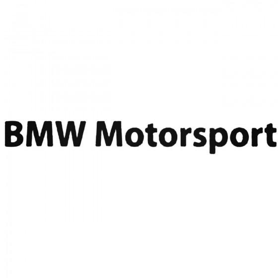 Bmw Motorsport 1 Decal Sticker