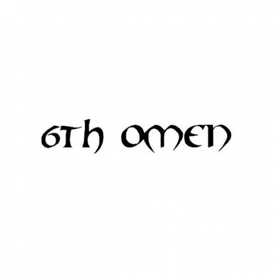 6th Omen Band Logo Vinyl Decal