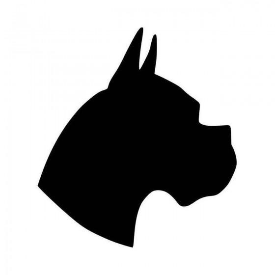 Boxer Dog Head Vinyl Decal...