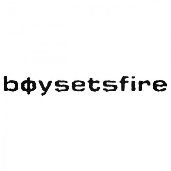 Boy Sets Fire Decal Sticker