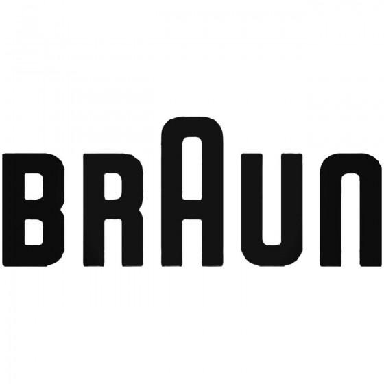 Braun Decal Sticker