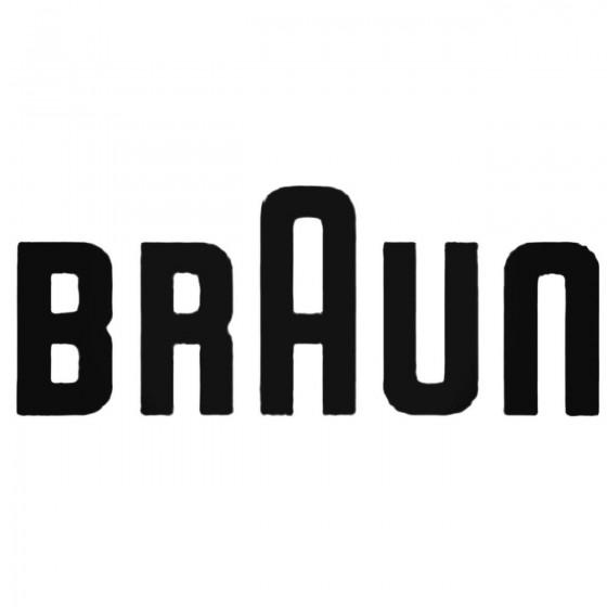 Braun S Decal Sticker