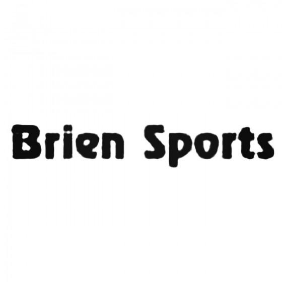 Brien Sports S Decal Sticker