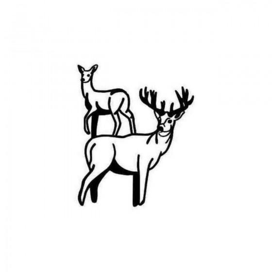 Buck Buck Amp Doe Decal...