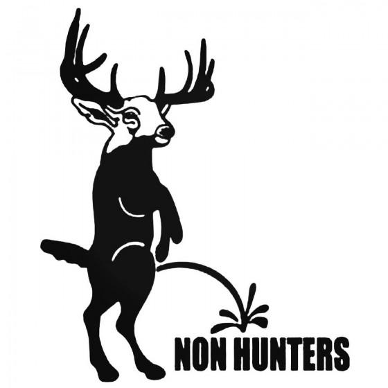 Buck Non Hunters Decal Sticker