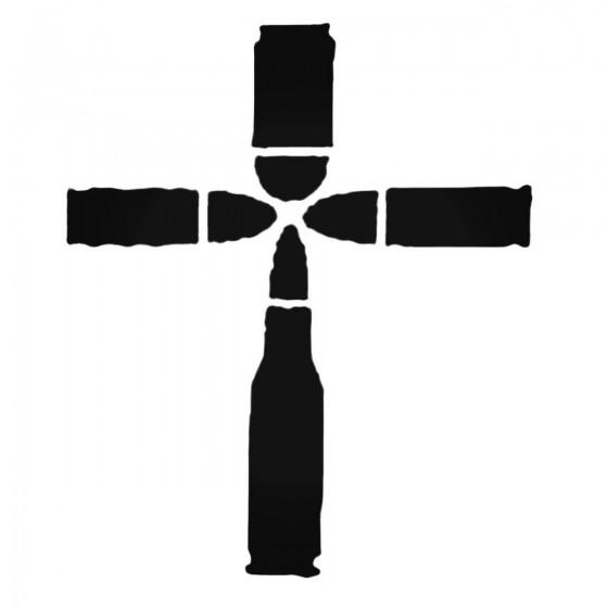Bullet Cross Decal Sticker