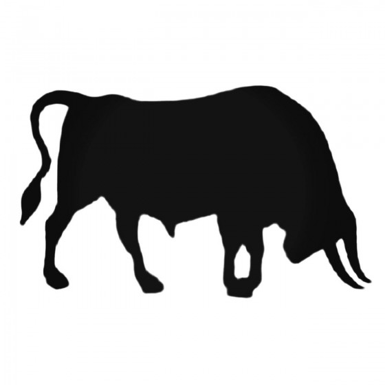 Bull With Horns Decal Sticker