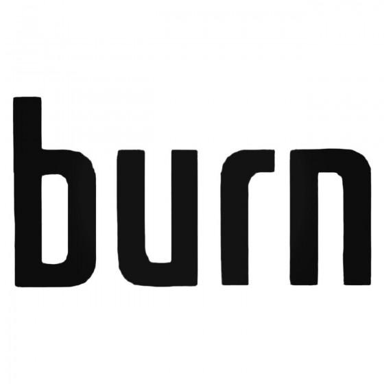 Burn Energy Decal Sticker