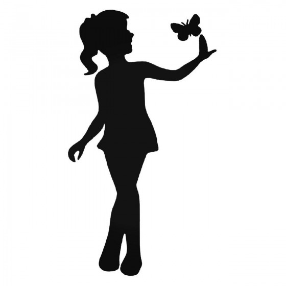 Butterfly And Girl Decal...