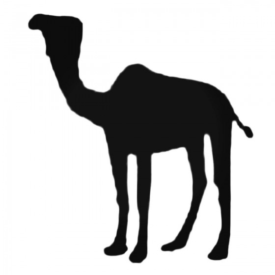 Camel With Hump Decal Sticker