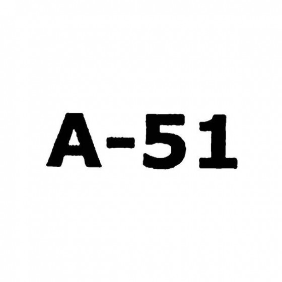 A 51 Band Logo Vinyl Decal