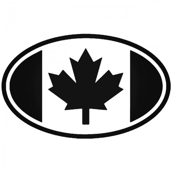 Canada Flag Oval Sticker