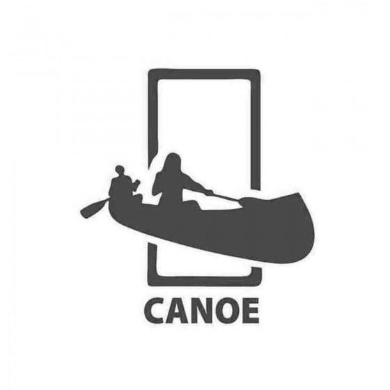 Canoe Decal Sticker