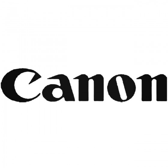 Canon Vinyl Decal