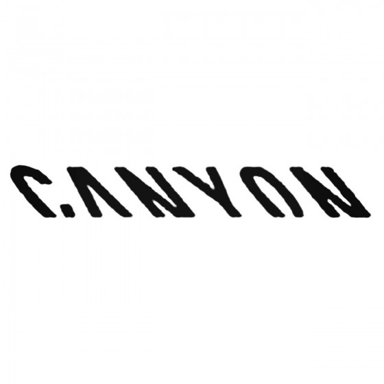 Canyon Decal Sticker