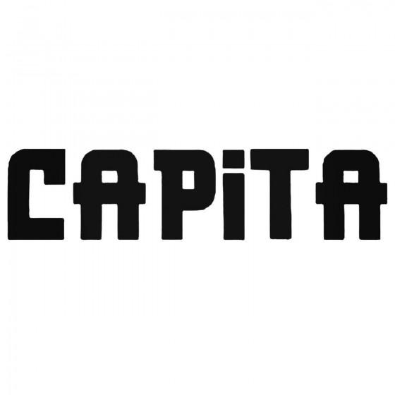 Capita Text Decal Sticker