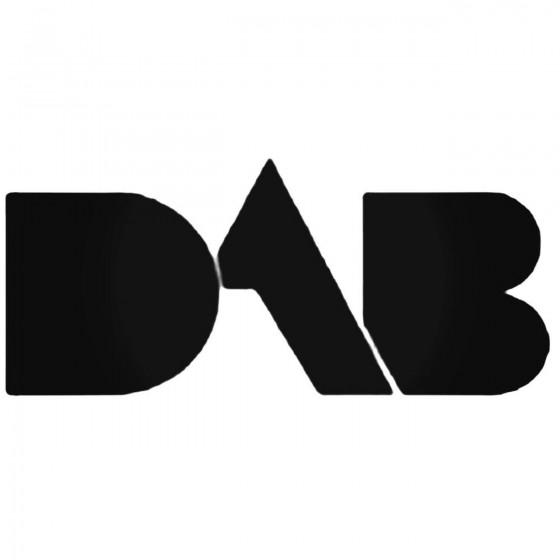 Car Audio Logos Dab Decal