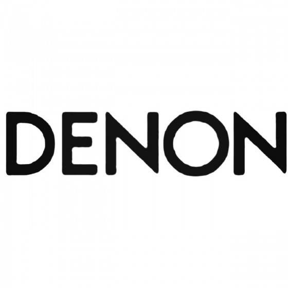 Car Audio Logos Denon Decal