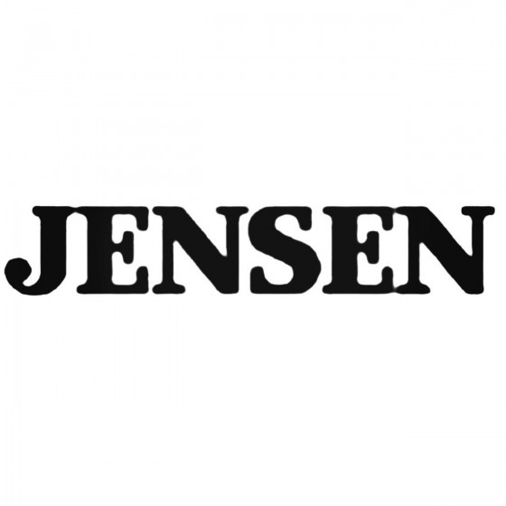 Car Audio Logos Jensen Decal