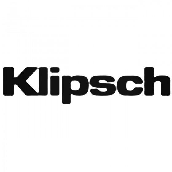 Car Audio Logos Klipsch Decal