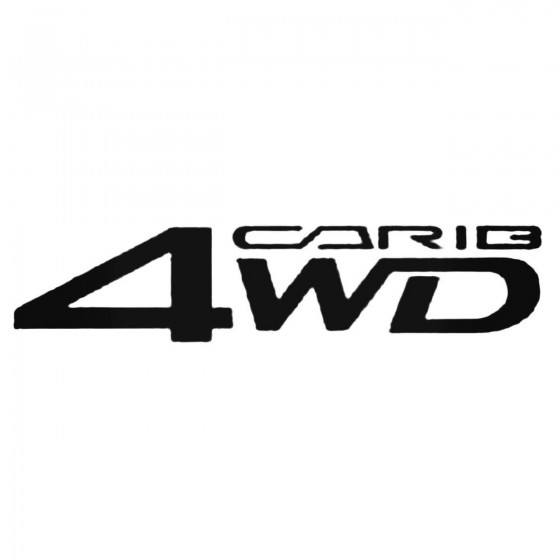 Carib 4wd Decal Sticker