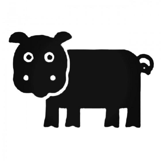 Cartoon Hippopotamus Decal...