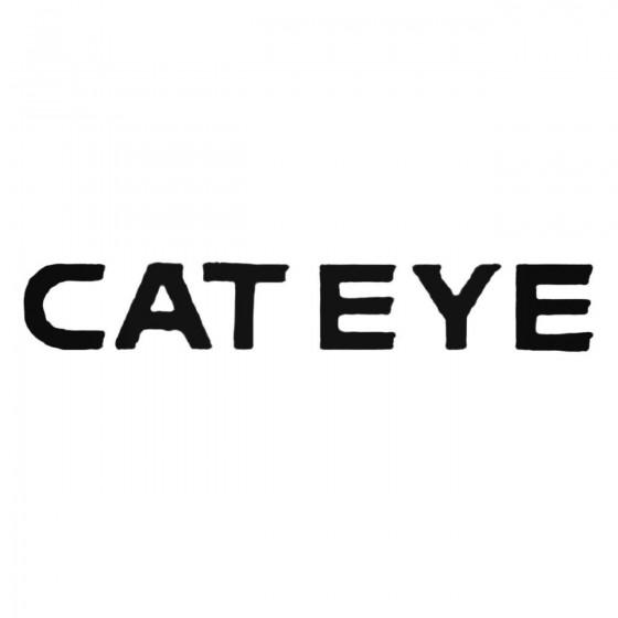 Cateye Text Decal Sticker