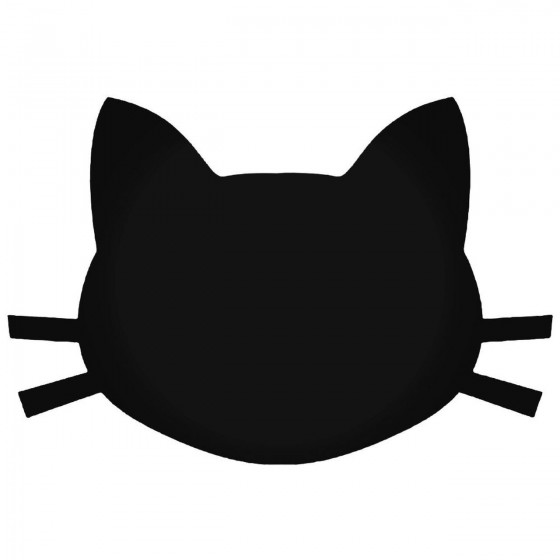 Cat Head 3 Decal Sticker