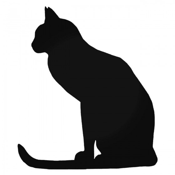 Cat Sitting 6 Decal Sticker