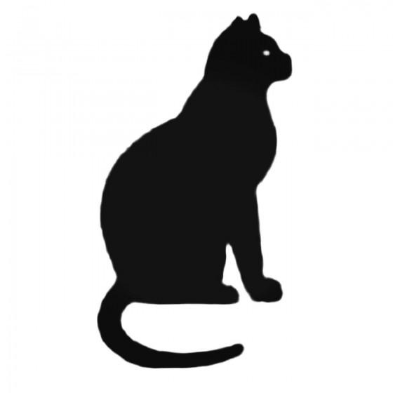 Cat Sitting Decal Sticker