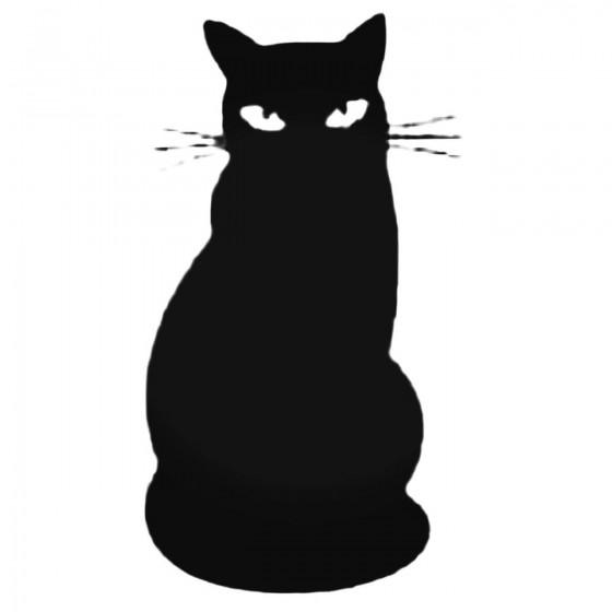 Cat Sitting With Big Eyes...