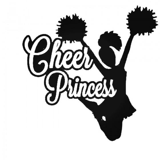 Cheer Princess Decal Sticker