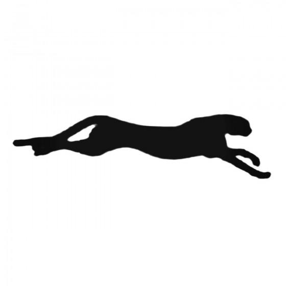 Cheetah Jumping Decal Sticker