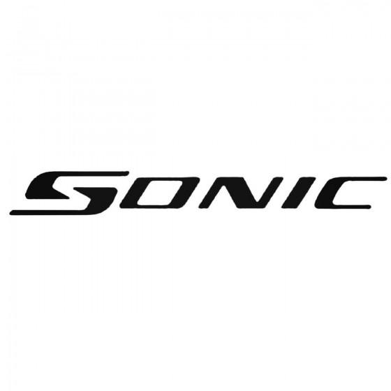 Chevrolet Sonic Decal Sticker