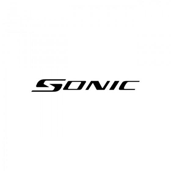 Chevrolet Sonic Vinyl Decal...
