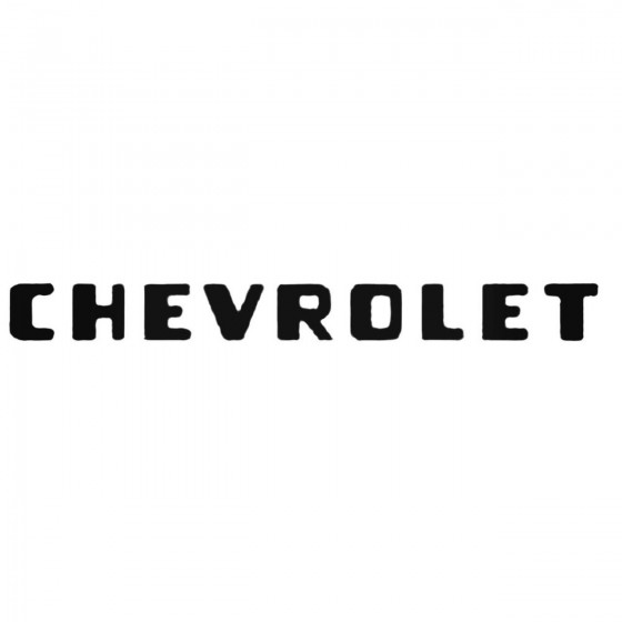 Chevrolet Tailgate Decal...