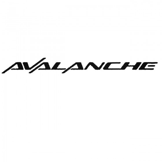 Chevy Avalanche Set Decal...