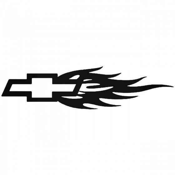 Chevy Bow Tie Flame 2 Sticker