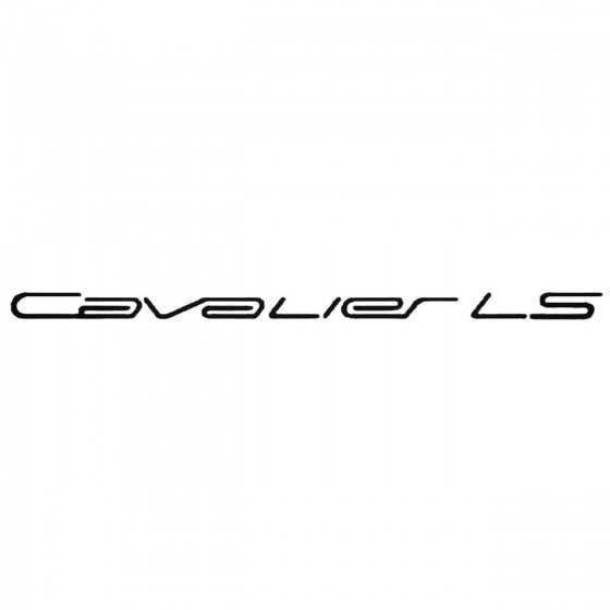 Chevy Cavalier Ls Set Decal...
