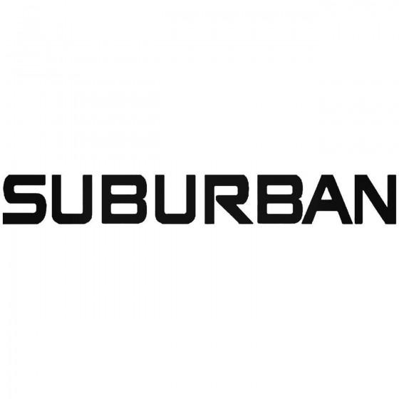 Chevy Suburban Sticker