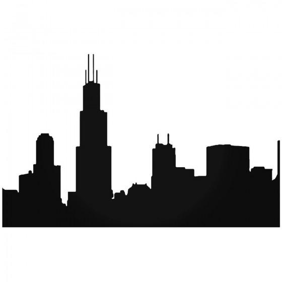 Chicago Skyline 2 Sticker
