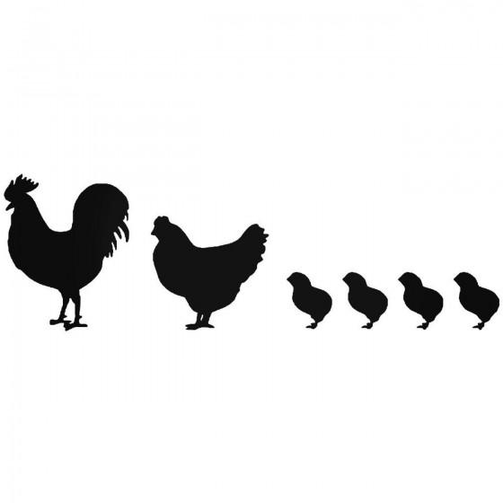 Chickens Farm Sticker