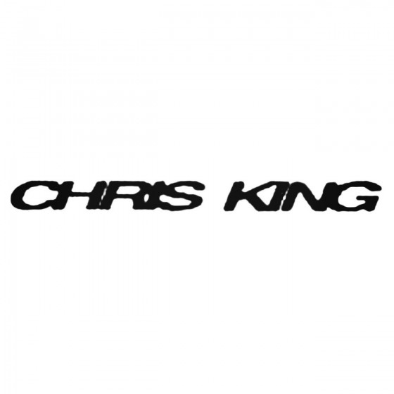 Chris King Long Decal Sticker