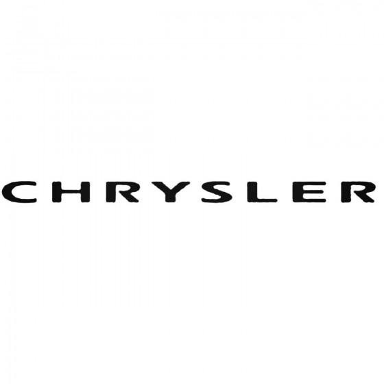 Chrysler 1 Decal Sticker