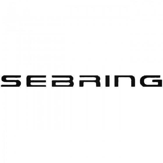 Chrysler Sebring Decal Sticker